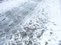 Winter pavement Stock Image