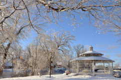 Winter Pavilion after Snow Royalty Free Stock Image