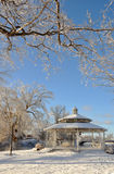 Winter Pavilion after Snow Stock Image