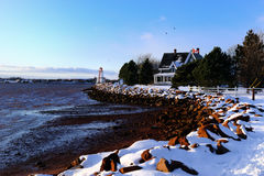 Winter at PEI Royalty Free Stock Photos