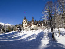 Winter at The Peles Castle, Romania Royalty Free Stock Image