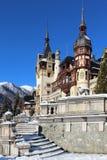 Winter am Peles-Schloss, Rumänien Stockfotografie