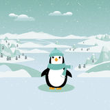 Winter Penguin Stock Photography