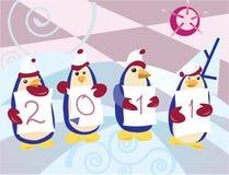 Winter penguins Royalty Free Stock Photos