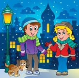 Winter person cartoon image 3 Royalty Free Stock Photos