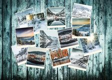 Winter photo collage of Norway Royalty Free Stock Image