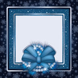 Winter photo frame scrapbooking. 
