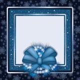 Winter photo frame scrapbooking.  Stock Photo