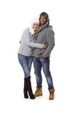 Winter photo of happy couple Royalty Free Stock Photo