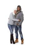 Winter photo of happy couple Royalty Free Stock Photo