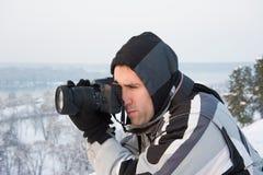 Winter photographer Royalty Free Stock Photo