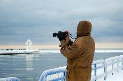 Winter photographer Royalty Free Stock Photos