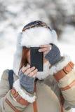 Winter photographer Stock Photo