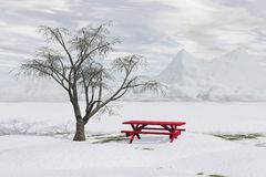 Winter Picnic Stock Images