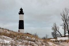 Winter picture of Big Sable Point Lighthouse Royalty Free Stock Photography