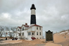 Winter picture of Big Sable Point Lighthouse Stock Photos