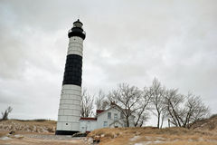Winter picture of Big Sable Point Lighthouse Stock Image