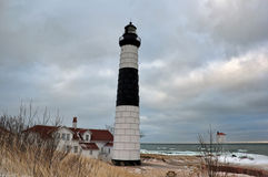 Winter picture of Big Sable Point Lighthouse Stock Photography