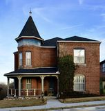 New Haven Queen Anne. This is a Winter picture of a brick house located in New Haven, Missouri in Franklin County.  This two-story brick house is an example of Royalty Free Stock Photography
