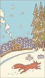Winter picture Royalty Free Stock Images