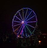Lincoln Park Zoo Zoolights #19. This is a Winter picture of the Ferris Wheel decorated in holiday lights at the iconic Lincoln Park Zoo Zoolights located in stock images