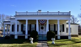 Fisher-Nash-Griggs House. This is a Winter picture of the historic Fisher-Nash-Griggs House located in Ottawa, Illinois in LaSalle County.  This house was Royalty Free Stock Image