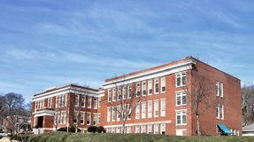 Graymont Elementary School. This is a Winter picture of Historic Graymont Elementary School located in Birmingham, Alabama in Jefferson County. This three-story stock photo