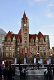 Landmark Center. This is a Winter picture of the historic Landmark Center located in St. Paul, Minnesota in Cook County. This example of Richardsonian Romanesque stock photos