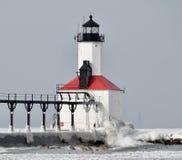 Michigan City Breakwater Lighthouse #2 royalty free stock photo