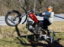 Pumpkin Head Motorcycle Rider stock images