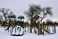 Playground in the Snow Royalty Free Stock Photos