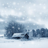 Winter picture royalty free stock photos