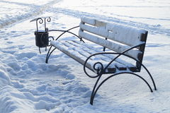 Winter Pictures : snow covered bench - Stock photos Royalty Free Stock Image