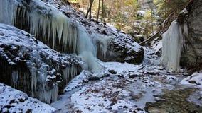 Winter in Piecky gorge , Slovensky raj National park , Slovakia Royalty Free Stock Images