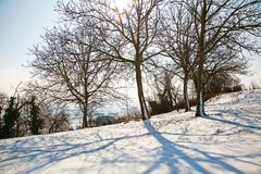 Winter in Piedmont, Italy Royalty Free Stock Photo
