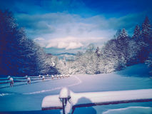 Winter  Pieniny Poland World Beauty Stock Photo