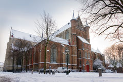 Winter Pieterskerk Stock Image
