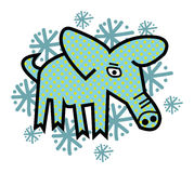 The Winter Pig Stock Image
