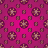 Winter pink and purple seamless pattern Stock Photography