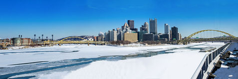 Winter Pittsburgh Point Stock Photos