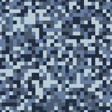 Winter pixel camouflage seamless pattern Stock Image