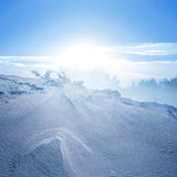 Winter plain Royalty Free Stock Photos