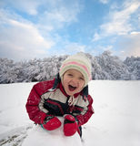 Winter play stock photography