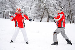 Winter play Stock Image