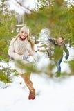 Winter play Royalty Free Stock Photo