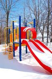 Winter playground Stock Photos