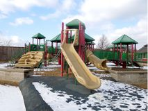 Winter Playground. A picture of  playground equipment in winter park Stock Images