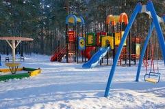 Winter playground Royalty Free Stock Image