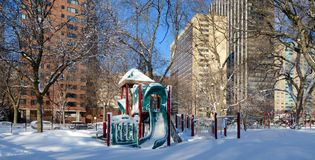 Winter Playground Stock Photo