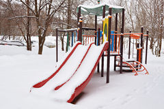 Winter playground Royalty Free Stock Images